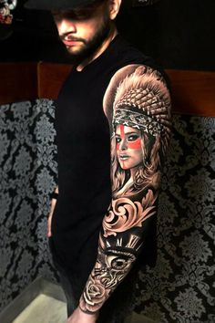 Full hand Tattoo for man and woman Realistic Tattoo Sleeve, Wolf Tattoo Sleeve, Full Sleeve Tattoos, Tattoo Sleeve Designs, Forearm Tattoo Men, Leg Tattoos, Tribal Tattoos, Wolf Sleeve, Tattoo Wolf
