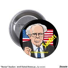 """Bernie"" Sanders 2016 United States presidential 5.7cm 丸型バッジ"