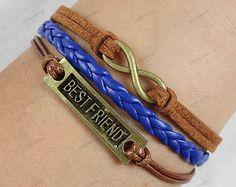 mens Bracelets infinite best friend bracelets by lifesunshine, $6.99