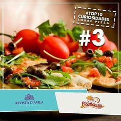 3. A maior pizza do mundo com 374 metros de diâmetro foi preparada em 1990 pelo supermercado Norwood Picknpay Hypermarket em Johannesburg África do Sul. Foram utilizados 500 quilos de farinha 800 quilos de queijo e 900 quilos de molho de tomate.