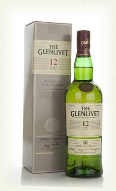 The Glenlivet 12 Year single malt scotch.