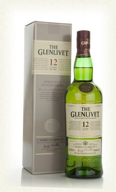 The Glenlivet 12 Year single malt scotch. Gold colour; fruity aroma with oak & hint of peat smooth mellow flavour with a touch of sweetness and light smoke to finish LCBO#: 605923 $75