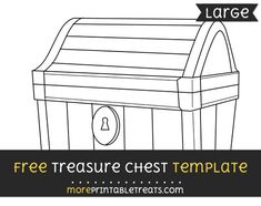 free treasure chest template large
