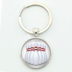 9.99$  Watch here - http://viynk.justgood.pw/vig/item.php?t=mouvfrj35276 - Bowling Pins Keychain Bowl Strike FOB Key Chain Sport Bowling Ball Lucky Strike 9.99$
