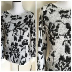 """NWT Ny Collection eyelash texture printed sweater Brand new with tags long sleeve eyelash textured sweater. Measures 19.5"""" pit to pit & 24"""" top to bottom NY Collection Sweaters Crew & Scoop Necks"""