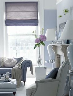 Living room- blues and muted greys?