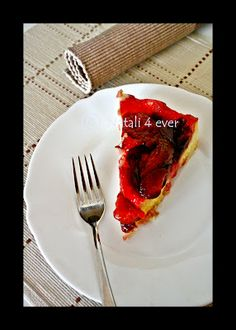 The upside-down plum cake