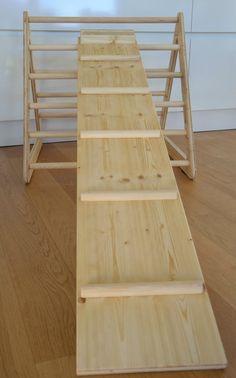 Holzspielzeug - Rutsche nach Emmi Pikler - ein Designerstück von Martin-Kreinecker bei DaWanda