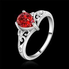 Envío gratis, moda caliente venta fábrica de joyería anillo precio venta al por mayor plateada plata del anillo mujeres de buena calidad. LKNSPCR523