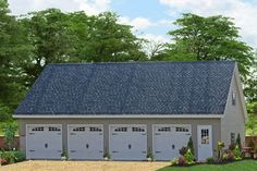Prefab Four Car Garage with Apartment Space from the Amish in Lancaster County, PA. Buy direct from the manufacturer and save! Call 717-442-3281 for a FREE ESTIMATE!