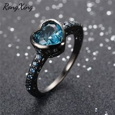 Stunning, one-of-a-kind Blue gemstone rings Brilliant, blue-tinted gems Lovingly plated with premium 10kt Black Gold Free Worldwide Shipping + 100% Money-Back Guarantee on orders over $25  Don't know your ring size?Use this PDF chart to find it. Remember: we have free returns, so if you order the wrong size, you can easily exchange for another size :)! Extremely high demand: expect 2-4 weeks for it to arrive (to be safe). Limit 4 per person!