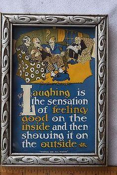 Vintage-BUZZA-style-Poem-Motto-Verse-picture-THE-CHEER-SPREADER