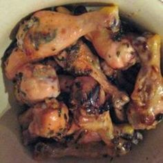 Wings with Mint Leaves and Honey