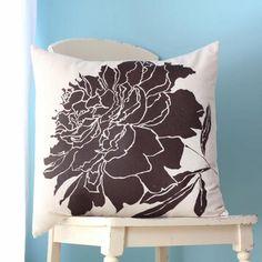 Lauren Alison Design throw pillow in Chocolate Peony. http://www.etsy.com/shop/LaurenAlison