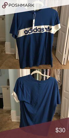 blue adidas new york tee nwt Adidas Tops Tees - Short Sleeve