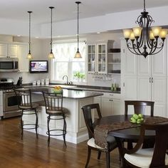 Best Lighting Over Kitchen Island Images On Pinterest Kitchen - Lighting above a kitchen island