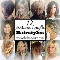 12-medium-length-hairstyles #thefoleyfamblog