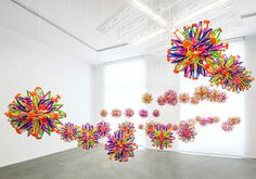 This project by artist Nils Völker was recently on view at NOME Gallery in Berlin: The installation consists out of 108 so-called Hoberman spheres hanging in the middle of the exhibition space. The…