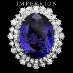 $125000 CERTIFIED 18K WHITE GOLD 16.00CT TANZANITE 2.00CT DIAMOND RING in Jewelry & Watches, Fine Jewelry, Fine Rings   eBay