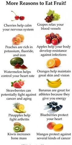 I like these reasons to eat more fruit. Makes more sense than it's good for me and it helps me poop easier.