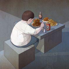 Richard Wilkinson es un ilustrador de Brighton, Inglaterra, y cada una de sus obras parece contar una historia particular.