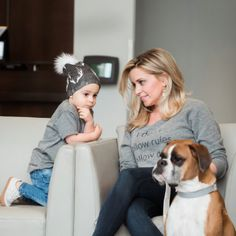 I Don't Follow Rules. I Follow Dogs Sweatshirt. Antler Pom Beanie. Modern Clothing by Portage and Main