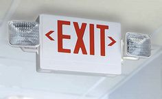 Contractor Select Thermoplastic LED Letter Emergency Exit Sign Light Fixture