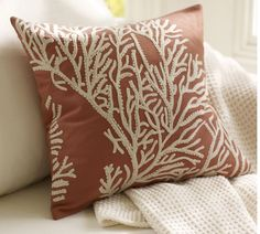 coral embroidered  perfect against brights