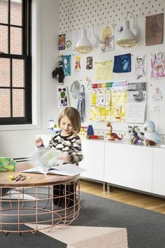 Hacin+Associates transformed a 1932 Tudor Revival into a modern family home with open interior, original details, sleek finishes & contemporary furnishings. Modern Playroom, Playroom Ideas, Garage Playroom, Ikea Playroom, Comfortable Pillows, Kid Spaces, Play Spaces, Creative Kids, Girl Room