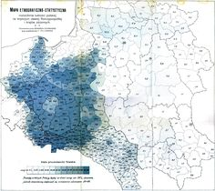 Vintage map; Poland demographics