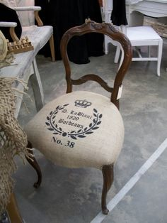 french stamped  chair