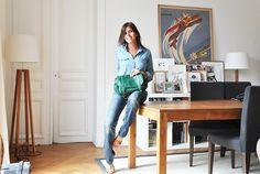 Pola vert - Sézane - by Morgane Sezalory http://www.sezane.com/