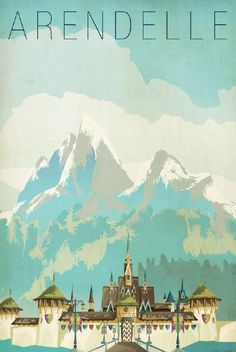 Frozen Travel Poster - Rewards - Disney Movie Rewards. Be careful enlarging this print. I increased the pixels and it still came out pixelated :(