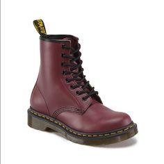 ✨HP✨Women's 1460 Dr. Martens Red doc martens in size 6. Excellent used condition and only been worn once. Dr. Martens Shoes