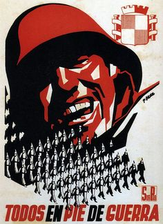 Spain - 1937. - GC - poster - autor: Josep Renau, All on the warpath