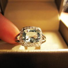 Engagement Ring  42 Carat Aquamarine Ring With by stevejewelry, $980.00