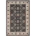 Lyndhurst Gray/Cream (Gray/Ivory) 5 ft. 3 in. x 7 ft. 6 in. Area Rug