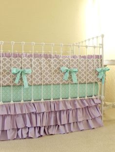mermaid crib bedding - Google Search