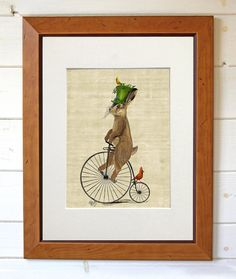 Alice in Wonderland Print Mad March Hare On Penny by LoopyLolly