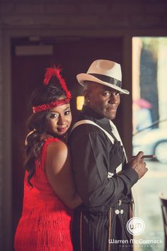 Warren Mccormack Photography. Harlem Nights Engagement. Halls Chophouse, Charleston, SC. Downtown Charleston engagement shoot.