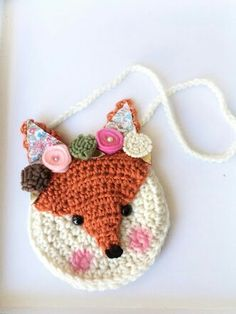 How To Crochet A Shell Stitch Purse Bag How To Crochet A Shell Stitch Purse Bag Aru Save Images Aru Meet Fiona the Fox She is part of our crochet purse line and is a perfect gifts These crochet purses measure are the perfect size for children to Crochet Crown, Crochet Fox, Love Crochet, Crochet Toddler, Crochet For Kids, Crochet Handbags, Crochet Purses, Kids Purse, Crochet Purse Patterns