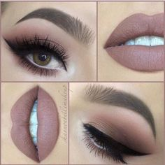 Gorgeous lashes and lips