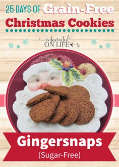 You and your kids are going to LOVE these grain-free gingersnaps. Easy to whip together too! @ IntoxicatedOnLife.com Part of their Grain-Free Christmas cookies series!