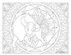 Adult Pokemon Coloring Page Tauros