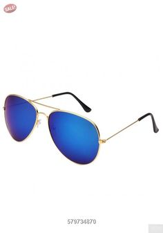 Desen Unisex Adult Aviator Sunglasses (Gold Blue): Classic Aviator Full Mirror Lens Sunglasses Metal Frame for men and women. Item listed by desen. guarantee picture and case match. Gold Aviator Sunglasses, Sunglasses Sale, Mirrored Sunglasses, Eyewear, Unisex, Free Shipping, Blue, Full Mirror, Coupon