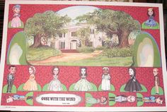 I love this GWTW caricature set that was another souvenir.  Bob Harmon was brilliant at capturing likenesses.  Have never come across Part 2 though....