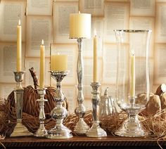 Knock off DIY Pottery Barn Candlesticks Thrift Store Outfits, Thrift Store Crafts, Thrift Store Decorating, Thanksgiving Centerpieces, Table Centerpieces, Wedding Centerpieces, Centerpiece Ideas, Candlestick Centerpiece, Centerpiece Flowers