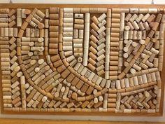 Corks on a cork board