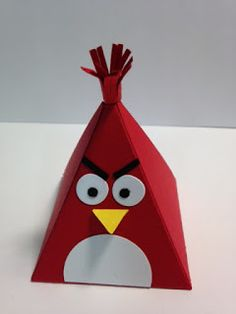 Playful Pals, Angry Bird, Pyramid Pal Thinlit, Stampin' Up!, Rubber Stamping, Handmade Gifts, Party Favors, 2016 Occasions Catalog