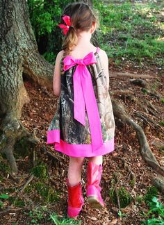 Custom made  Realtree Camo Baby. Toddler. Girl  Pillowcase dress.Hot Pink.  Baby E.M.M. Cowgirls, Cowboys, Indians on Etsy, $35.00